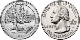 25 центов 2018 P США — Национальный парк Вояджерс — Voyagers National Park UNC