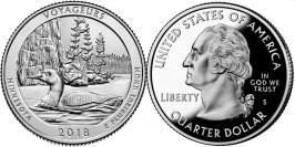 25 центов 2018 S США — Национальный парк Вояджерс UNC