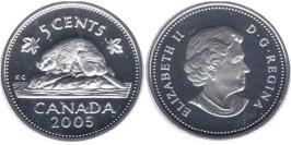 5 центов 2005 Канада UNC