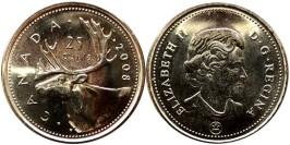 25 центов 2008 Канада — UNC
