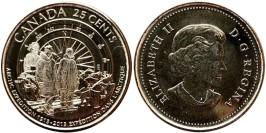 25 центов 2013 Канада — 100 лет Канадской арктической экспедиции — UNC