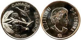 25 центов 2017 Канада — 150 лет Конфедерации Канада — Надежда на зелёное будущее — UNC