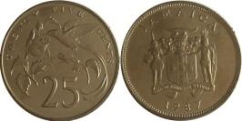 25 центов 1987 Ямайка