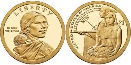1 доллар 2014 P США UNC — Коренные Американцы — Гостеприимство индейцев