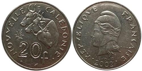 20 франков 2002 Новая Каледония