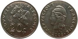 20 франков 2008 Новая Каледония