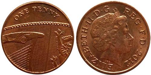 1 пенни 2012 Великобритания