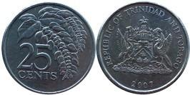 25 центов 2007 Тринидад и Тобаго — Чакония