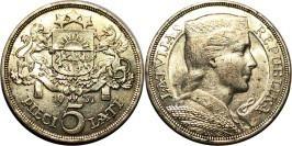 5 латов 1931 Латвия — серебро