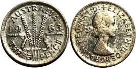 3 пенса 1963 Австралия — серебро