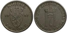 1 крона 1957 Норвегия