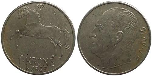 1 крона 1973 Норвегия