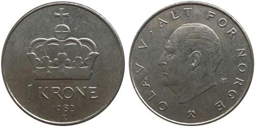 1 крона 1982 Норвегия