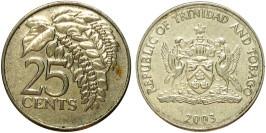 25 центов 2003 Тринидад и Тобаго — Чакония