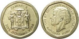 5 долларов 1995 Ямайка