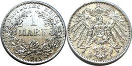 1 марка 1915 A Германия — серебро
