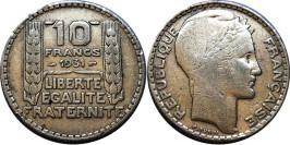 10 франков 1931 Франция — серебро