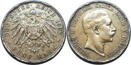 5 марок 1908 А Германская империя — Пруссия — серебро