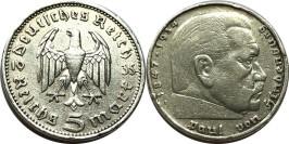5 рейхсмарок 1935 А Германия — серебро