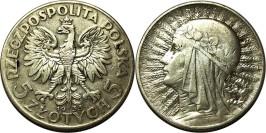 5 злотых 1933 Польша — серебро — Королева Ядвига — знак монетного двора
