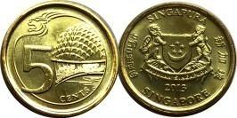 5 центов 2013 Сингапур UNC
