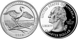 25 центов 2018 S США — Национальное побережье острова Кумберленд UNC