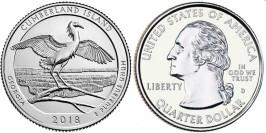 25 центов 2018 D США — Национальное побережье острова Кумберленд UNC