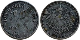 10 пфеннигов 1917  Германская империя — магнитная