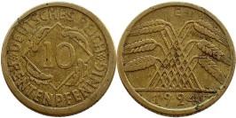 10 рейхспфеннигов 1924 «Е» Германия