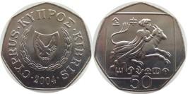 50 центов 2004 Республика Кипр UNC