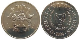 10 центов 2004 Республика Кипр UNC