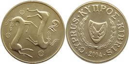 2 цента 2004 Республика Кипр UNC