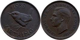 1 фартинг 1939 Великобритания