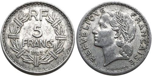 5 франков 1947 Франция