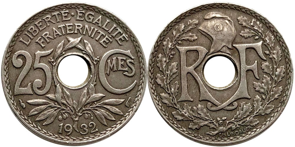 25 сантимов 1932 Франция