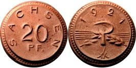 20 пфеннигов 1921 Германия — Нотгельд — Саксония (Мейсен) — фарфор