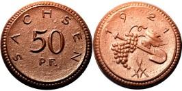 50 пфеннигов 1921 Германия — Нотгельд — Саксония (Мейсен) — фарфор