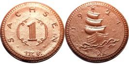1 марка 1921 Германия — Нотгельд — Саксония (Мейсен) — фарфор