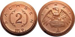 2 марки 1921 Германия — Нотгельд — Саксония (Мейсен) — фарфор