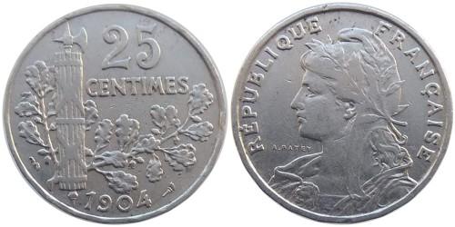 25 сантимов 1904 Франция