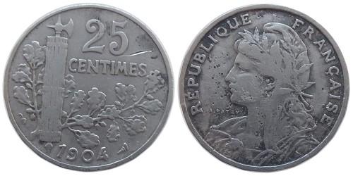 25 сантимов 1904 Франция — уценка № 2