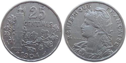 25 сантимов 1904 Франция — уценка № 3