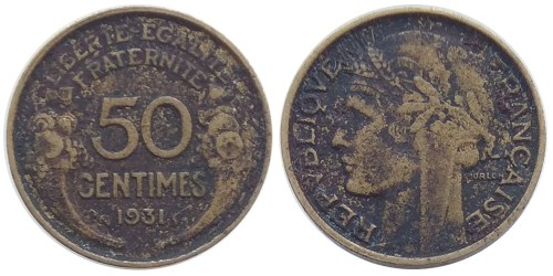 50 сантимов 1931 Франция № 1