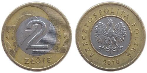 2 злотых 2010 Польша