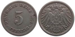 5 пфеннигов 1909 «A» Германская империя