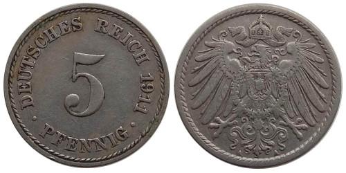 5 пфеннигов 1911 «A» Германская империя