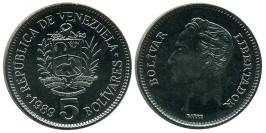 5 боливаров 1989 Венесуэла UNC