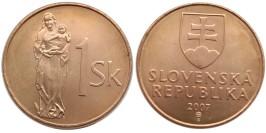 1 крона 2007 Словакия