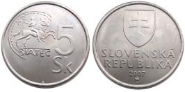 5 крон 2007 Словакия