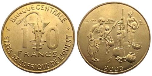 10 франков 2000 Западная Африка